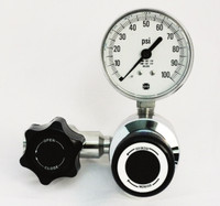 Economical Corrosive Gas Stainless Steel High Purity A9 Line Pressure Regulator Model 3451LPM 10-100 PSIG Panel Mount