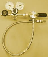 "A4 Brass Protocol Single Station Manifold 36"" Teflon-Lined Pigtails With Isolation & Check Valve Model 917BV-3-CV"