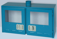 "Gas Safety Storage Cabinet for 4 Lecture Bottles Cylinders 48""W X 18""D X 39""H Model 3400 Custom"