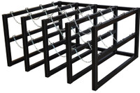 16 Cylinder Storage Rack 4 Cyl Wide x 4 Cyl Deep S.S. Chains (Stainless Steel) Custom
