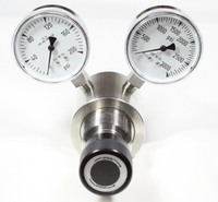 Brass High Flow Cv 2.0 Piston Sensed Pressure Regulator A5 Model 3833B Del Press. 0-200 psig