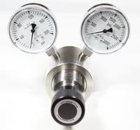 Brass High Flow Cv 2.0 Piston Sensed Pressure Regulator A6 Model 3833B Del Press. 0-25 psig Panel Mount