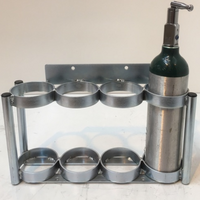"4 Cylinder Wall Mount Rack for M6 (3.20"" DIA) Oxygen Cylinders Custom"
