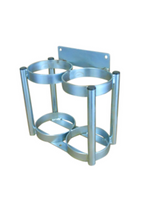 """2 Cylinder Wall Mount Rack for M6 (3.20"""" DIA) Oxygen Cylinders Custom"""