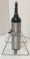 """1 Cylinder Floor Stand for D or M22 (5.25"""" DIA) Oxygen Cylinders Custom"""