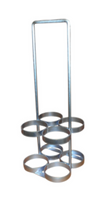 "4 Cylinder Carrier/Floor Mount For D or E (4.38""DIA) Oxygen Cylinders Custom"