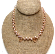 Sterling Silver Freshwater Pearl Sunstone Necklace