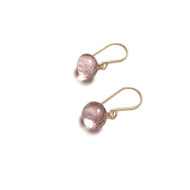 Gold Filled Mystic Pink Quartz Onion Briolette Earrings