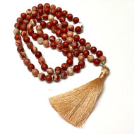 Sterling Silver Red Lace Jasper Necklace