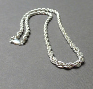 Sterling Silver French Rope Chain 24 inches