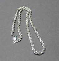 Sterling Silver French Rope Chain 4mm 18 Inches