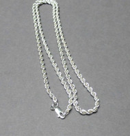 Sterling Silver 2mm French Rope Chain. Italian. 2mm.