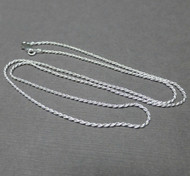 Sterling Silver 1.2mm French Rope Chain. Italian. Lightweight Chain.
