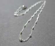 Sterling Silver Curb with Bead Chain.