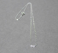Sterling Silver Flat Cable Chain. Finished Necklace. 1.45mm. .925. 16 inches.