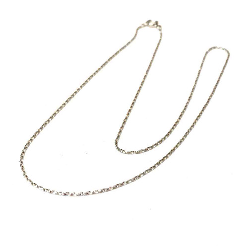 Sterling Silver Twist Box Chain. .85mm. 16 inch.