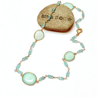 Gold Filled/Plated Chalcedony Necklace