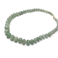 Hand Silk Knotted Graduated Aquamarine Necklace