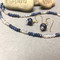 Handmade Blue Sapphire Mystic Pink Amethyst Earth Keeper Necklace and Earrings