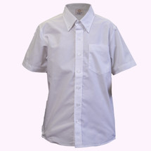Short Sleeve White Oxford - Youth