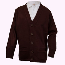 Burgundy Cardigan - Youth