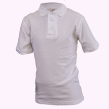 White Short Sleeve Polo - Youth