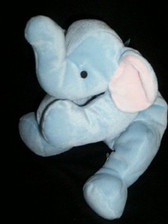 "TY  ~  ELEPHANT * 14""  PILLOW PAL For Baby"