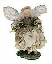 "Boyd's ~  WILLOW  FAIRIEFLUTTER ... 5"" Faerie On Leaf Stand * NEW From Our Shop"