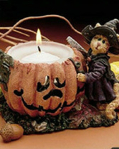 Boyd's ~  SABRINA PUNKINPUSS ... SPOOKY CREATIONS * Votive  *  NEW