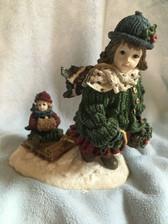 Boyd's Dollstone  ~  COURTNEY With PHOEBE ...With SLED  *1E*  NIB
