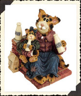 Boyd's  ~  MOMMA CRAFTYCAT W/LIL' SIPPER...Got Cream?  * 3E