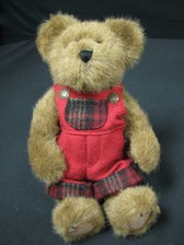 """Boyd's  ~  JOEL  BEARSLEY  *  9""""  Bear w/Wool Overalls * NEW From Our Shop"""