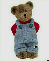 "Boyd's  ~  ERIC BURRBRUIN ... 10"" Bear w/Blue Fleece Overalls * NEW From Our Shop"