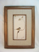 CHICKADEE PICTURE ... Framed & Matted