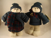 Crazy Mountain  ~  BOY & GIRL SNOWMAN ... Green Knit & Plaid Scarf  *  NEW From Shop