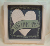 New View  ~  LOVE LIVES HERE ... WALL HANGING  *  NEW & MINT Condition