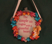 Enesco SIGNS OF TIME ~  SIMPLE LIFE ... GRATEFUL HEART *Wall Plaque*  NEW