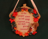 Enesco SIGNS OF TIME ~  AT PROPER TIME ... HARVEST * NEW