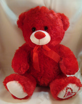 "Best  Made Toys  ~  RED HEARTS ... 10"" Sitting BEAR  *  MINT Condition"