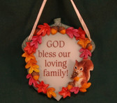 Enesco SIGNS OF TIME ~  GOD BLESS OUR FAMILY  *Fall Plaque*  NEW