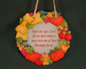 Enesco SIGNS OF TIME ~ OPEN OUR EYES LORD ... BLESSINGS  *Fall Plaque* NEW