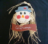 SCARECROW  WELCOME * WALL HANGING  *  NEW
