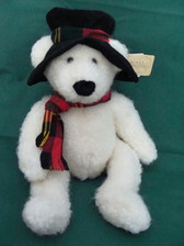 "Russ  ~  TOPPER SNOWBEAR ... 15"" w/Black Hat * NEW From Our Shop"