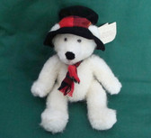 "Russ  ~  TOPPER SNOWBEAR  *  10"" Bear w/Black Hat  *  NEW From Our Shop"