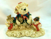 Enesco  ~  BEAR SNOWMAN ... With Small Bears   *  NEW From Our Retail Shop