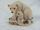 Enesco  ~  POLAR BEAR With CUB ... Seagull Collection  *  NEW From Our Shop