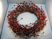 "RED  BERRY TWIG  ROUND  WREATH ... 12""  *  New"