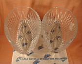 Princess House  ~  CRYSTAL SILVERWARE HOLDERS  *  NIB