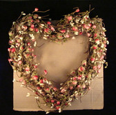 "PASTEL  BERRY  HEART  TWIG  WREATH ... 12""  *  NEW"