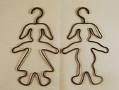 Pair of Mini Wire Bunny Wall Hangers  *  NEW